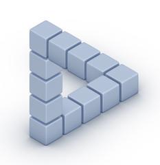 The Penrose triangle optical illusion
