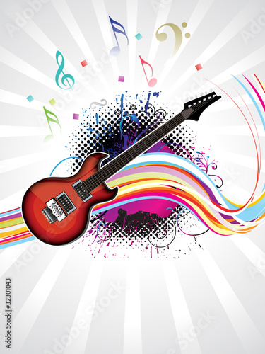 abstract colorful musical background - 32301043