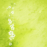 grunge background with flowers - 32301415