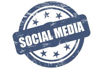 Sternen Stempel blau SOCIAL MEDIA