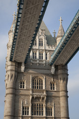 Detail of Tower Bridge in London, England, UK