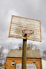 Self-mad basketball board.
