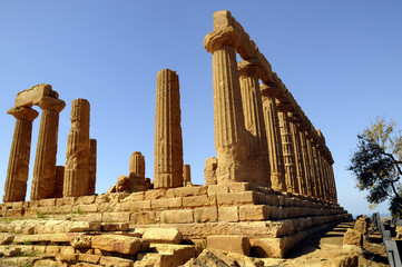 The Temple of Juno Lacinia  at Agricento in Sicily,Italy,Europe