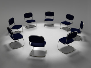 chair standing in a circle