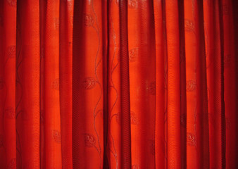 Bright Red Curtain Texture