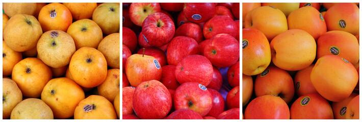Triptyque de pommes