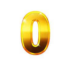 0 - zéro - chiffre en OR