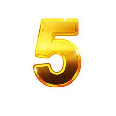 5- cinq - chiffre en OR