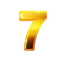 7 - sept - chiffre en OR