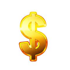 Dollar - Alphabet en lettres dorées