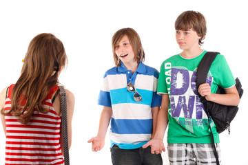 Teenager unterhalten sich 20.05.11
