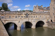 Historic Pulteney Bridge in Bath City, England