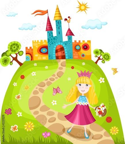 Fototapeten,princess,märchen,set,schloss