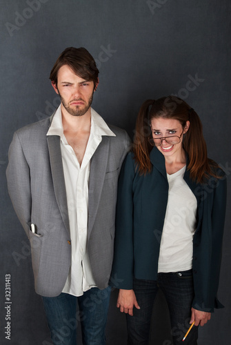 Uncomfortable Couple