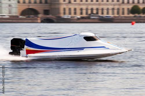 Fotobehang Formule 1 F1H2O powerboat on championship in Saint Petersburg