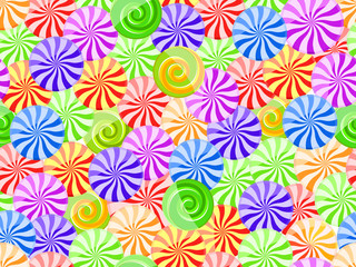 vivid striped candy seamless pattern on white background