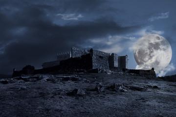 Medieval dark scenery