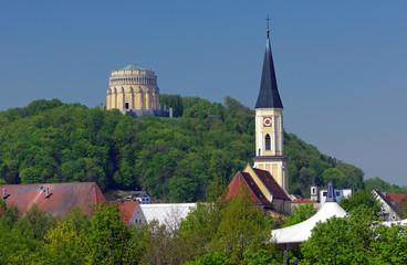 Befreiungshalle - über den Dächern von Kehlheim