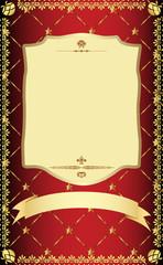 Golden vintage template.
