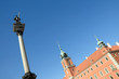 Sigismund's Column and Royal Castle in Warsaw, Poland