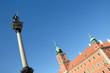 Sigismund's Column and Royal Castle in Warsaw, Poland
