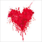 Fototapety Heart with blood