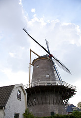 Old mill with blue sky
