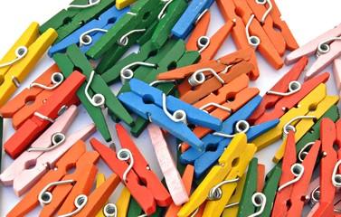 Fondo de pinzas de colores