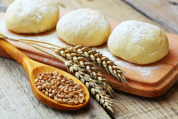Wheat and dough