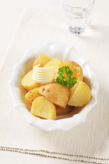 Cooked new potatoes