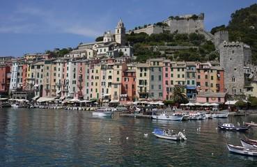 Portovenere, the harbor and the castle