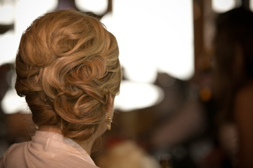 blond up do hair style curly