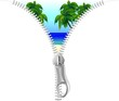 Cerniera Lampo su Mare Tropicale-Zip on Tropical Beach-Vector