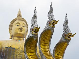Big Buddha Statue and King of Naga