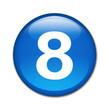 Boton brillante numero 8