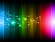 Futuristic Rainbow Lights Background for Poster