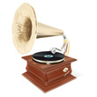 Retro gramophone - vector file