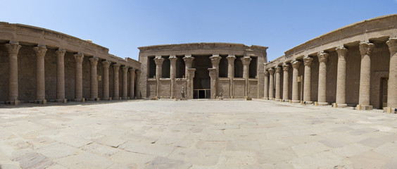 Entrance to the temple at Edfu