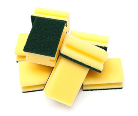 yellow and green sponges