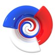 Spirale tricolore Francese - Spral French flag