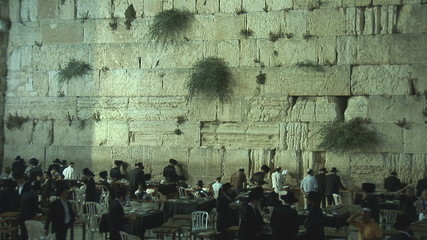 Kotel at night after shabat
