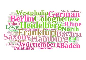 Germany Word Collage isolated on white background