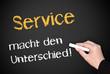 Service macht den Unterschied !