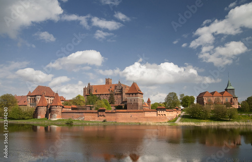 Malbork castle from across the River Nogat.