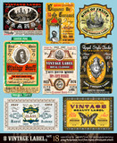 Fototapety Vintage Labels Collection -Set 18