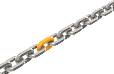 Solution. Chain with one Orange link