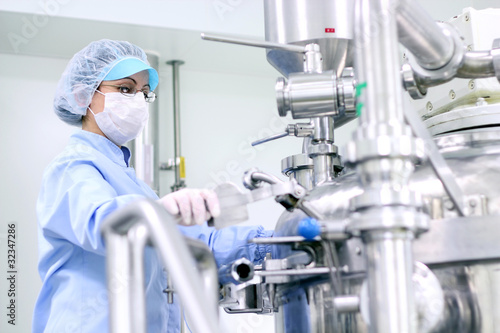 Pharmaceutical Worker At Work