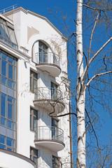 Facade of an elite apartment house