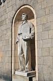 Allegorische Statue vor dem Kulturpalast in Warschau