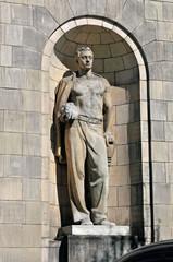 Statue am Kulturpalast Warschau